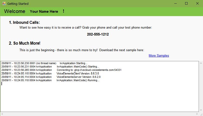 Screenshot Amazon Lex Bot Solution Demo