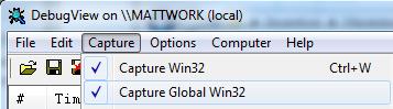 DebugView - Capture Win32