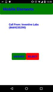 Mobile Elements - Inbound Calls