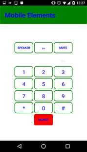 Mobile Elements - On Call Keypad
