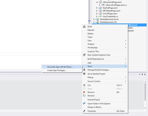 Mobile Elements - Windows Service App Store