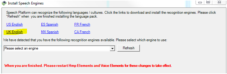Screenshot - Select Which Language