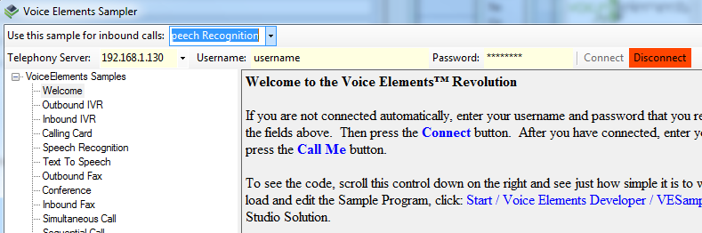 Screenshot - Select Speech Recognition