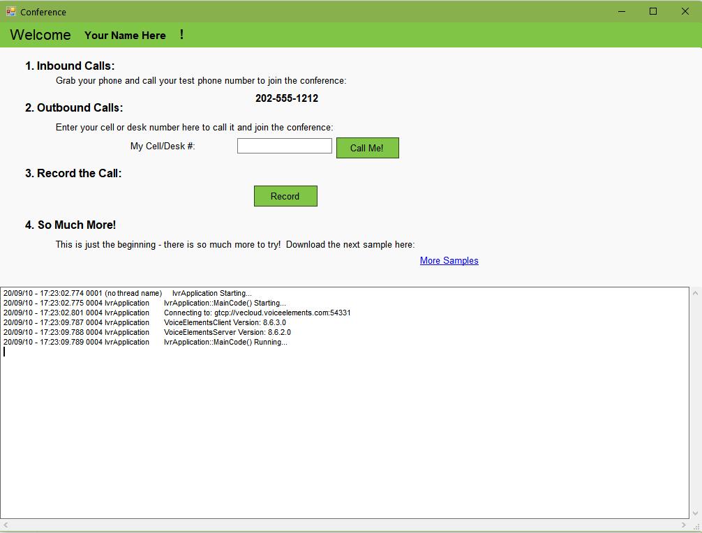 Screenshot Conferencing Solution Demo