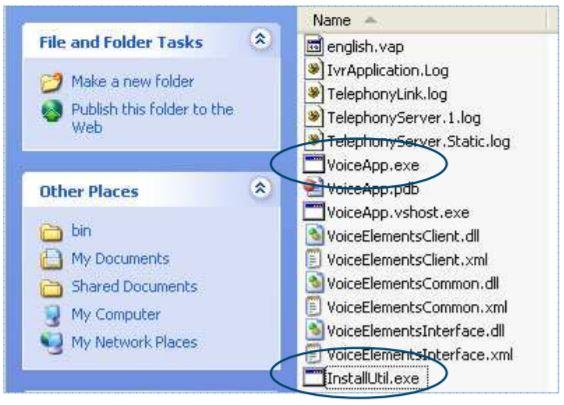 Copy InstallUtil.exe to VoiceApp.exe Folder