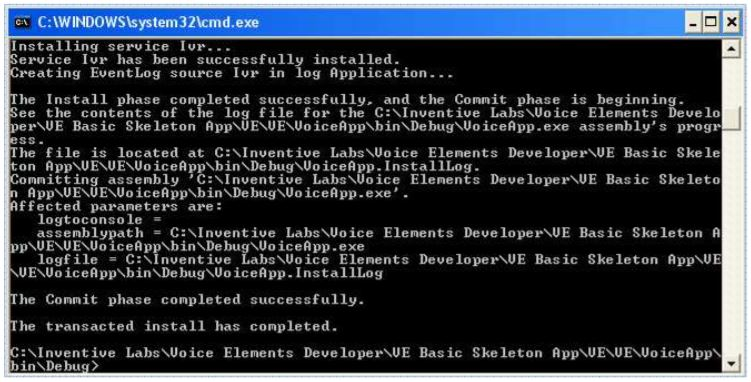 Installing as a Service at the Command Prompt