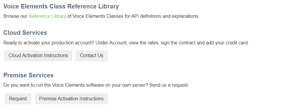 Demo Dashboard Reference Library, Cloud Activation, Premise Activation