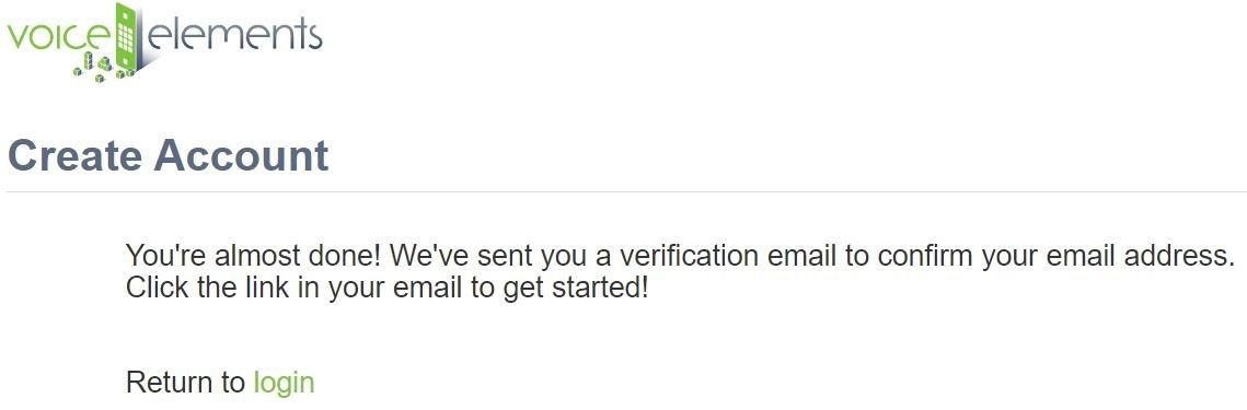 Screenshot - Demo Verify Email