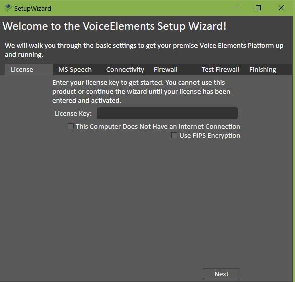 Screenshot - VE Setup Wizard: Enter License Key