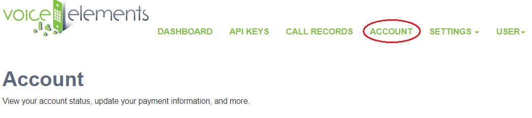 Screenshot - Dashboard Account