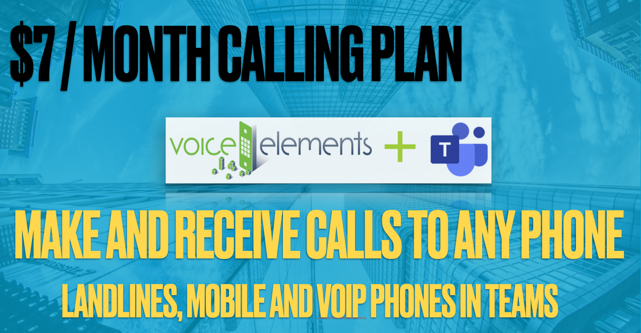 Voice Elements Teams Calling Plan Pricing